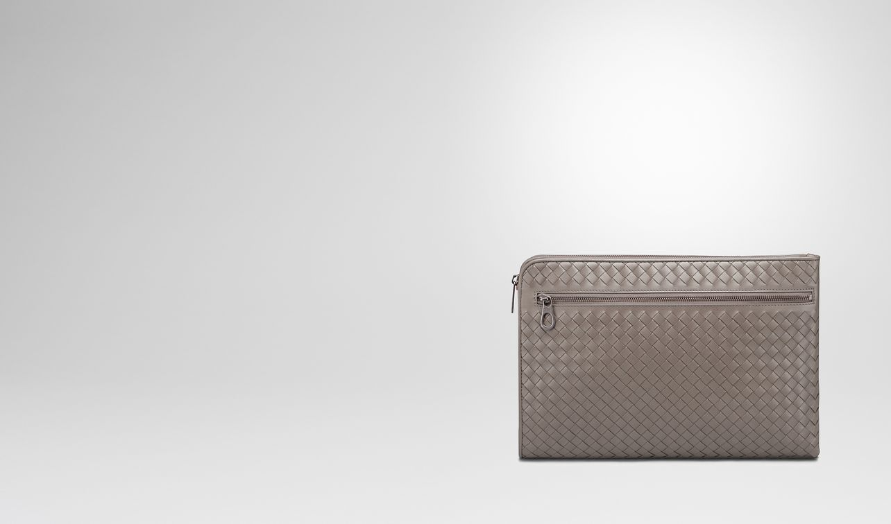 steel intrecciato small document case landing