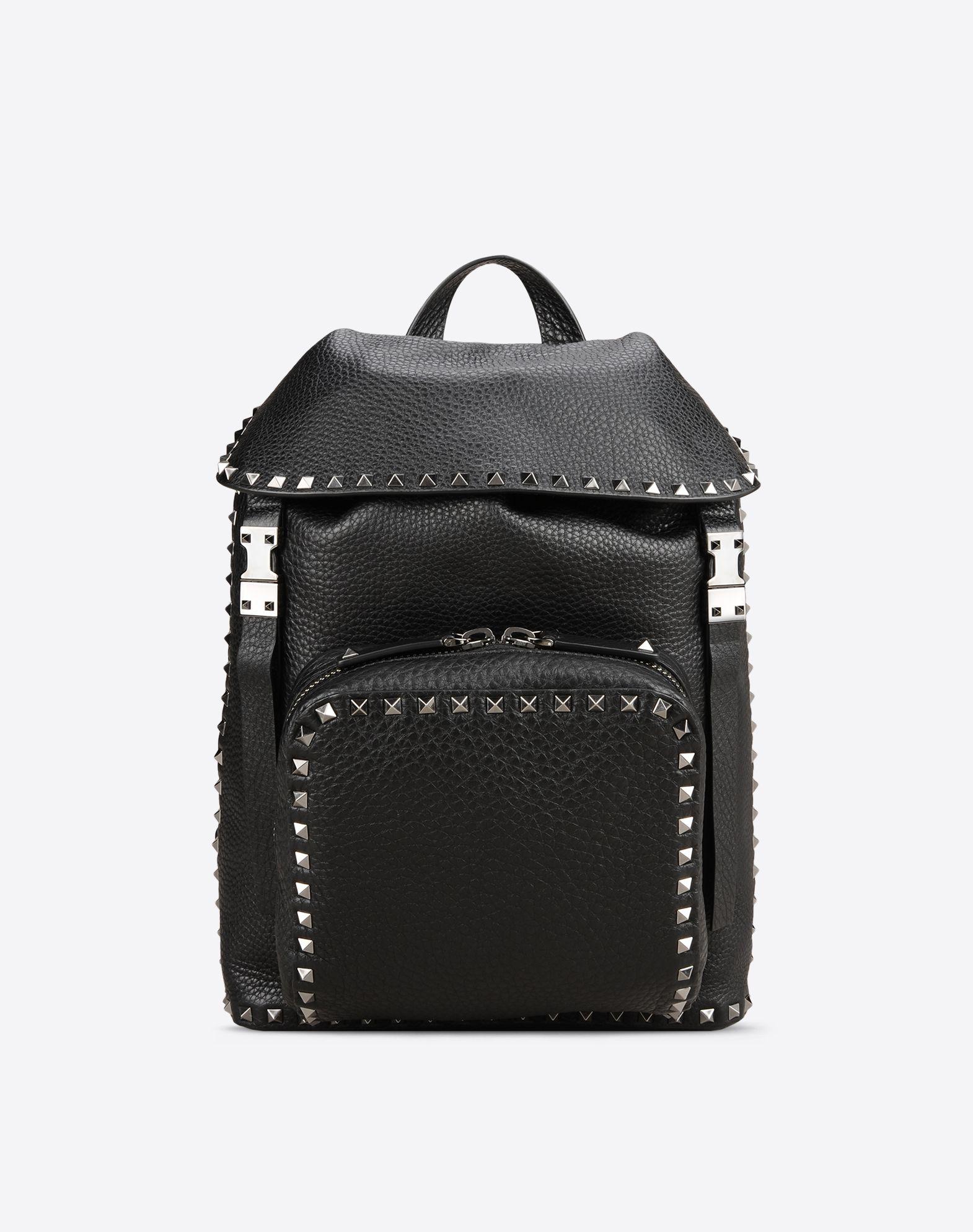 VALENTINO Studs External pocket Textured leather  45318379xh