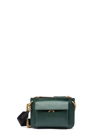 MARNI Bandolier D POCKET bag in bi-coloured matt calfskin f
