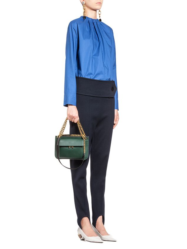 Marni POCKET bag in bi-coloured matt calfskin  Woman - 5
