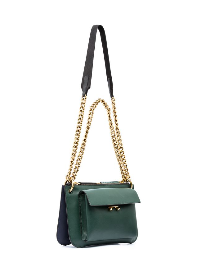 Marni POCKET bag in bi-coloured matt calfskin  Woman - 2