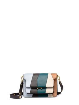 Marni TRUNK bag in patchwork matt calfskin Woman