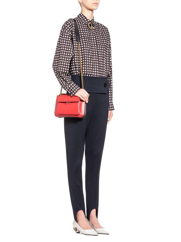 Marni POCKET bag in two-color matte calfskin  Woman - 5