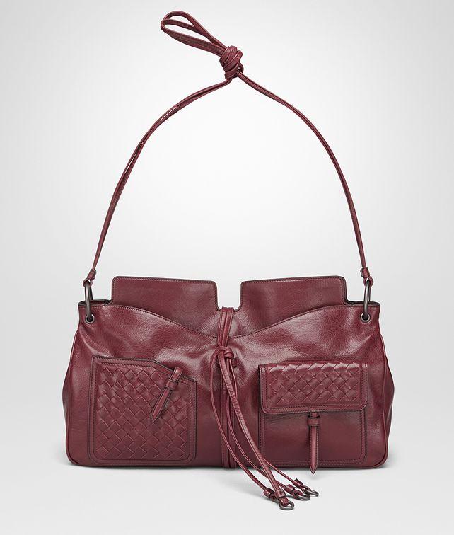 BOTTEGA VENETA SHOULDER BAG IN BAROLO CALF, INTRECCIATO DETAILS Shoulder Bag [*** pickupInStoreShippingNotGuaranteed_info ***] fp