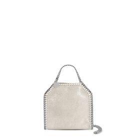 STELLA McCARTNEY Falabella Mini Bags D Platinum Falabella Shiny Dotted Chamois Mini Tote f