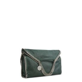 Falabella Fold Over Tote in Shaggy Deer Petrolio