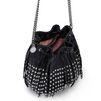 STELLA McCARTNEY Black Falabella Studded Fringed Bucket Bag Falabella Shoulder Bags D e