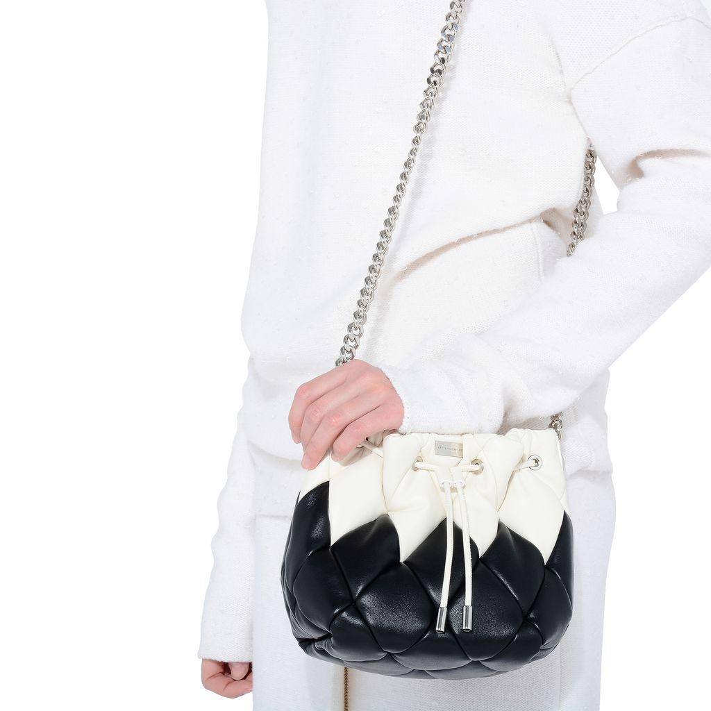 Black Falabella Quilted Bucket Bag - STELLA MCCARTNEY