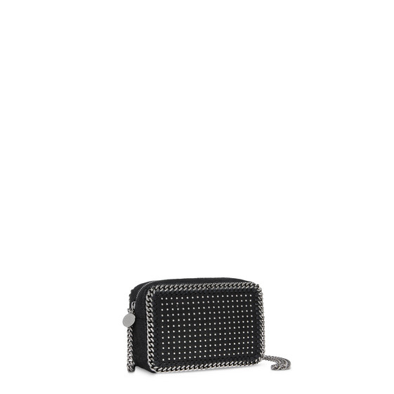 Black Falabella Studded Cross Body Bag