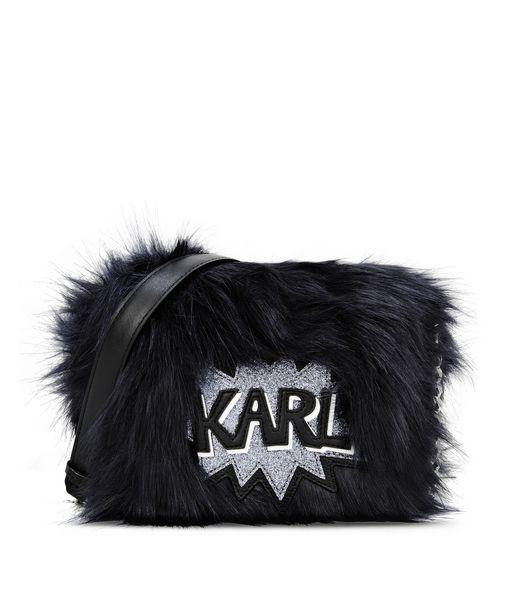 KARL LAGERFELD K/POP FUZZY CROSSBODY 12_f