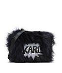 KARL LAGERFELD K/POP FUZZY CROSSBODY 8_f