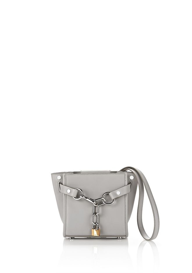 ALEXANDER WANG new-arrivals-bags-woman EXCLUSIVE ATTICA MINI SATCHEL IN HEATHER GRAY