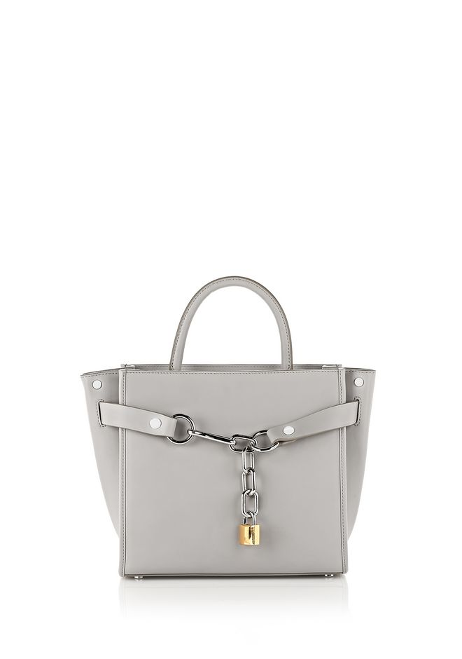 ALEXANDER WANG new-arrivals-bags-woman EXCLUSIVE ATTICA LARGE SATCHEL IN HEATHER GRAY