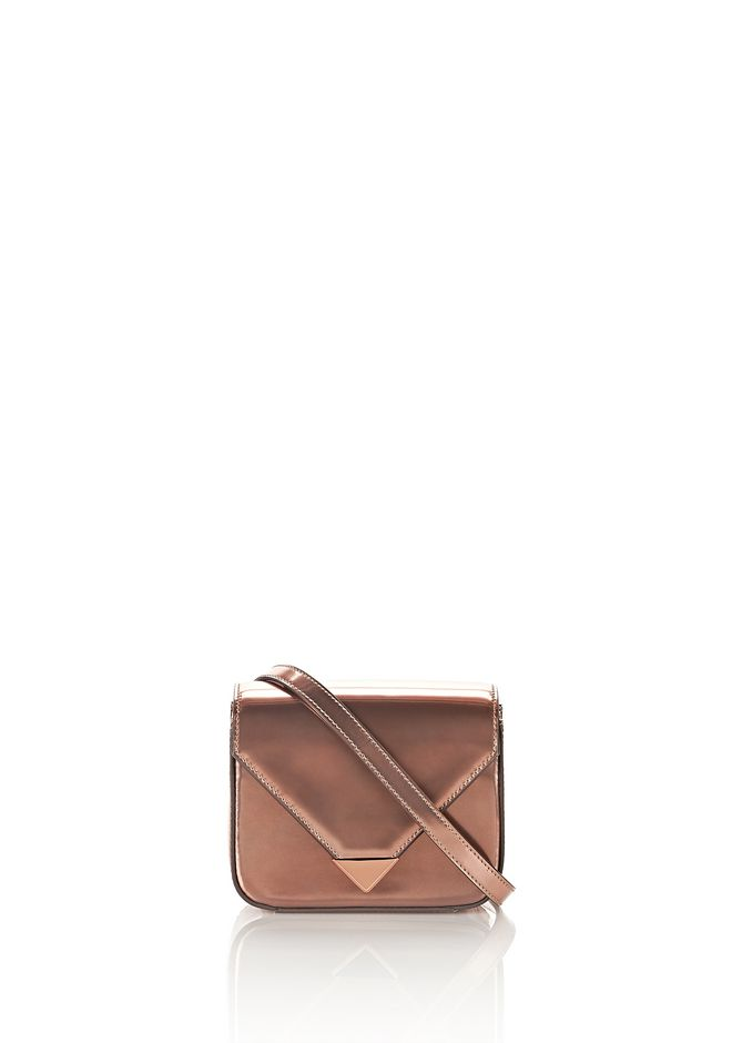ALEXANDER WANG mini-bags MINI PRISMA ENVELOPE SLING IN ROSE GOLD