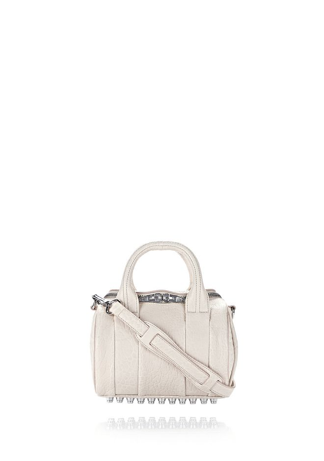 ALEXANDER WANG Shoulder bags MINI ROCKIE IN PEBBLED OPALINE WITH RHODIUM