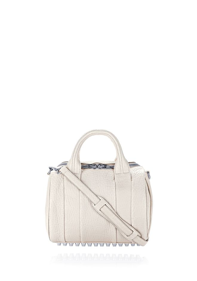 ALEXANDER WANG Shoulder bags ROCKIE IN PEBBLED OPALINE WITH RHODIUM