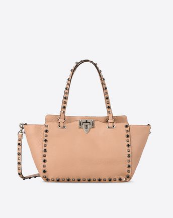 VALENTINO Rockstud Rolling small tote  45322021NH