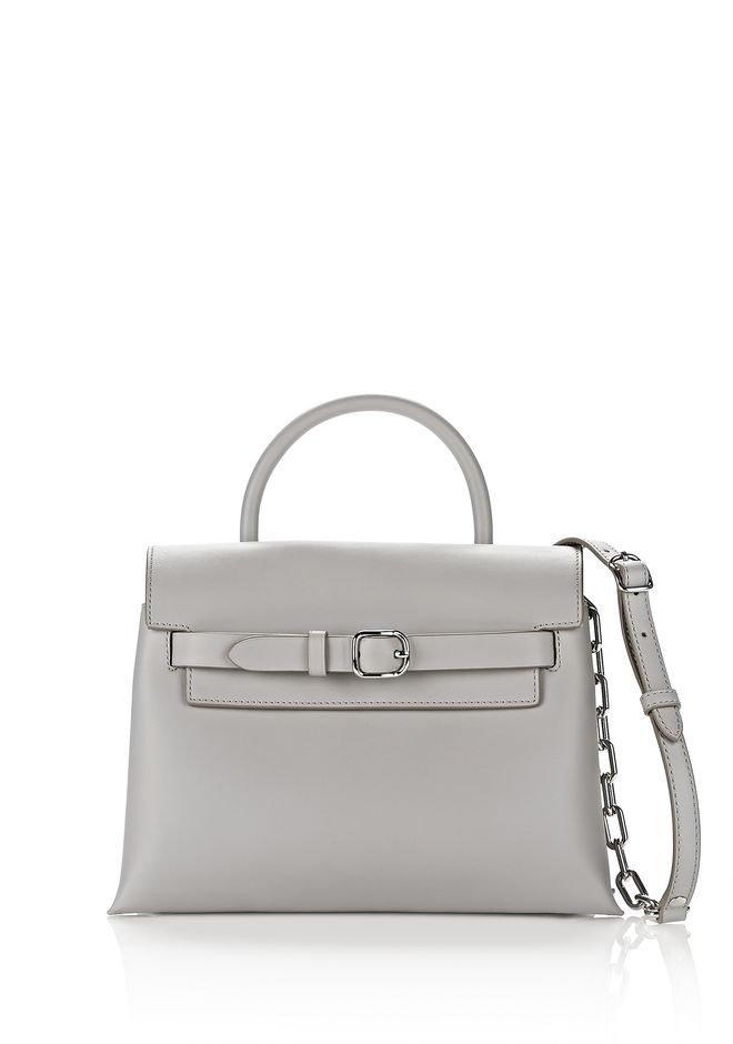 ALEXANDER WANG Shoulder bags Women EXCLUSIVE ATTICA CHAIN CROSSBODY IN HEATHER GREY WITH RHODIUM