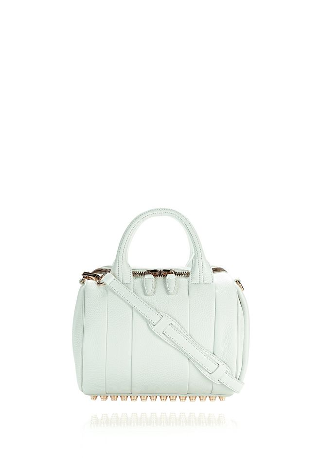 ALEXANDER WANG Shoulder bags ROCKIE IN SOFT PEBBLED PEROXIDE WITH ROSE GOLD