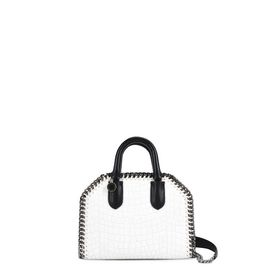 STELLA McCARTNEY Falabella Mini Bags D White Falabella Box Alter Croc Mini Bag f