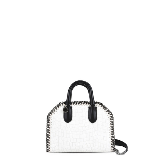 Borsa Mini Falabella Box Bianca in Alter Croc