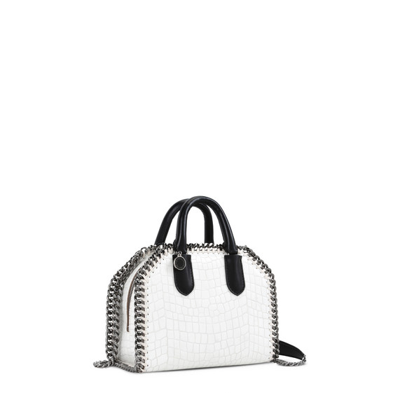 White Falabella Box Alter Croc Mini Bag