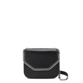 Black Falabella Box Shoulder Bag