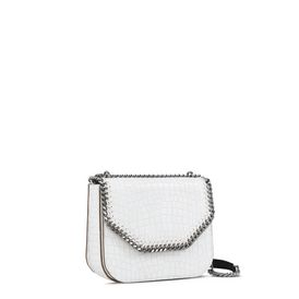 White Falabella Box Alter Croc Shoulder Bag