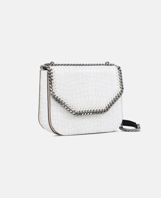 STELLA McCARTNEY White Falabella Box Alter Croc Shoulder Bag Shoulder Bag D h