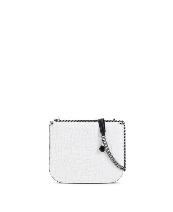 STELLA McCARTNEY White Falabella Box Alter Croc Shoulder Bag Shoulder Bag D i