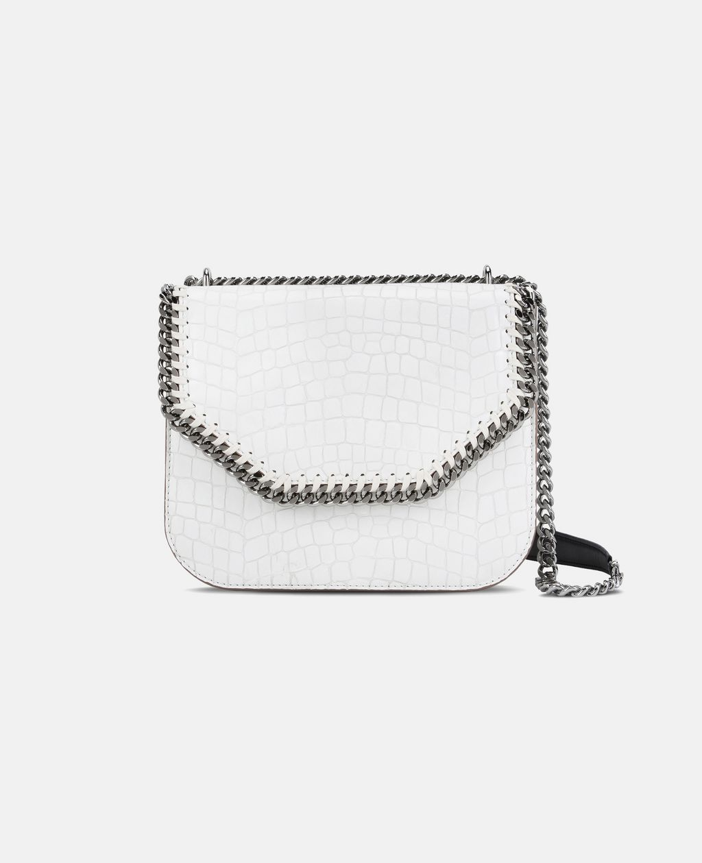 White Falabella Box Alter Croc Shoulder Bag  - STELLA MCCARTNEY