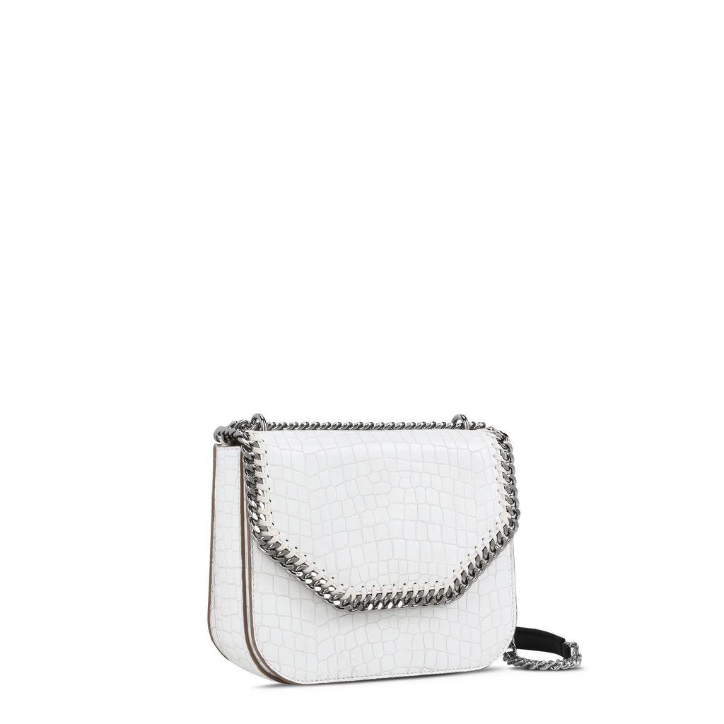 White Falabella Box Alter Croc Shoulder Bag  - STELLA MCCARTNEY