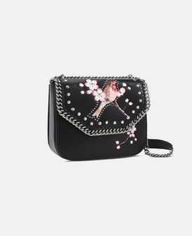 Black Falabella Box Bird Shoulder Bag