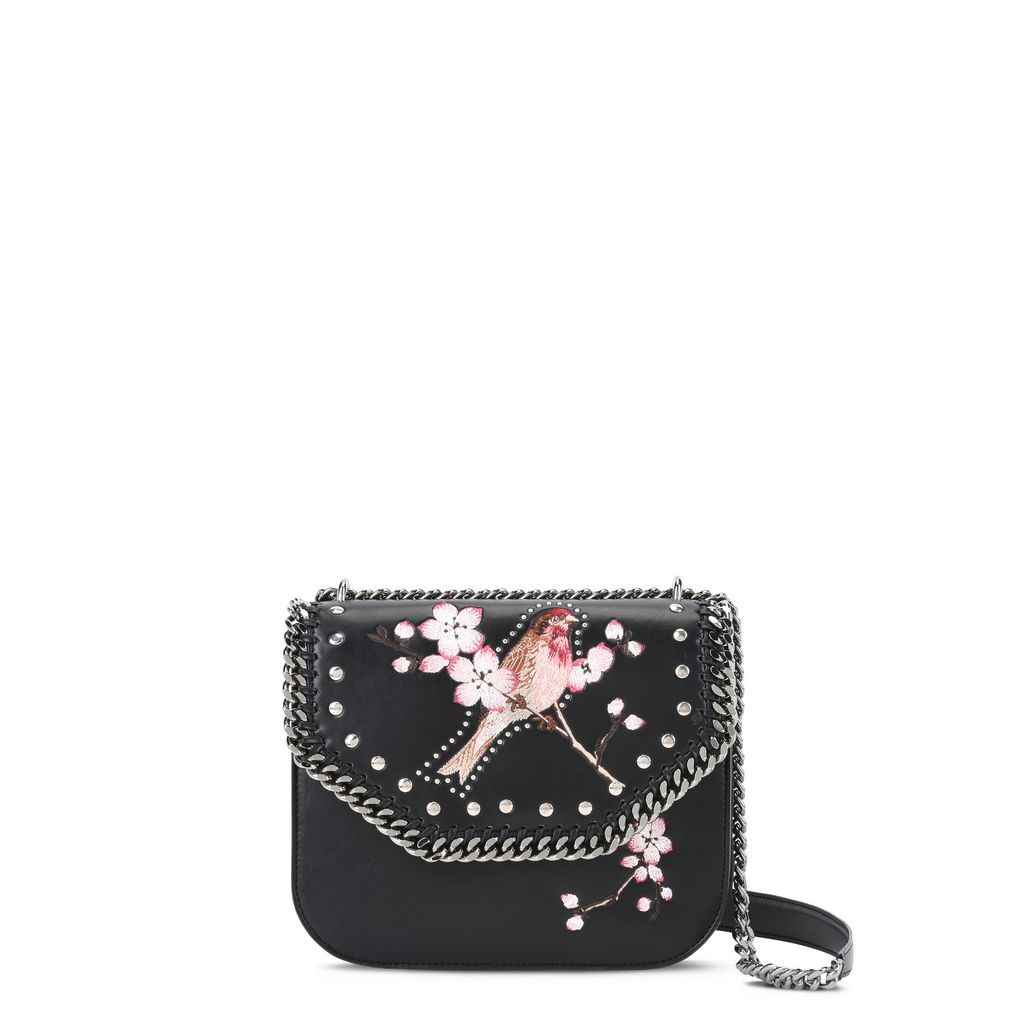Black Falabella Box Bird Shoulder Bag  - STELLA MCCARTNEY