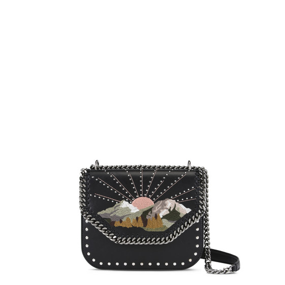 Black Falabella Box Nashville Shoulder Bag