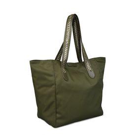 Khaki Falabella GO Shoulder Bag