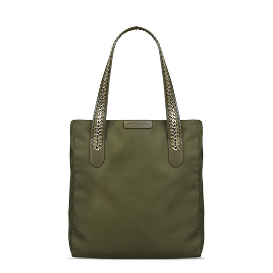 Khaki Falabella GO Shoulder Bag