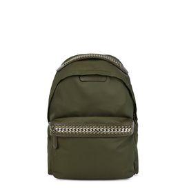 STELLA McCARTNEY Falabella Backpacks D Khaki Falabella GO Backpack f