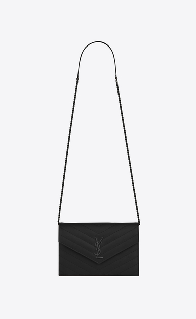 choose genuine new images of factory price Saint Laurent Envelope Chain Wallet In Grain De Poudre ...