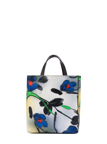 Marni Shopping bag MUSEO in printed saffiano Woman