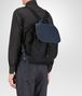 BOTTEGA VENETA BACKPACK IN TOURMALINE TECHNICAL CANVAS AND PACIFIC INTRECCIATO CALF Messenger Bag Man ap