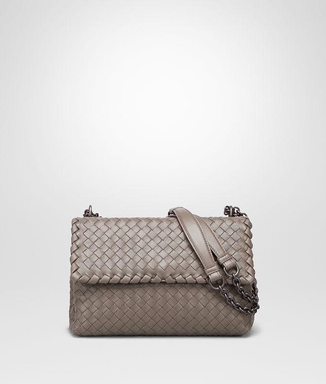 4a4f4aaa78 BOTTEGA VENETA STEEL INTRECCIATO NAPPA SMALL OLIMPIA BAG Shoulder Bag       pickupInStoreShipping info