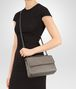 BOTTEGA VENETA OLIMPIA BAG IN STEEL INTRECCIATO NAPPA Shoulder Bag Woman ap