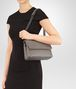 BOTTEGA VENETA OLIMPIA BAG IN STEEL INTRECCIATO NAPPA Shoulder or hobo bag Woman lp