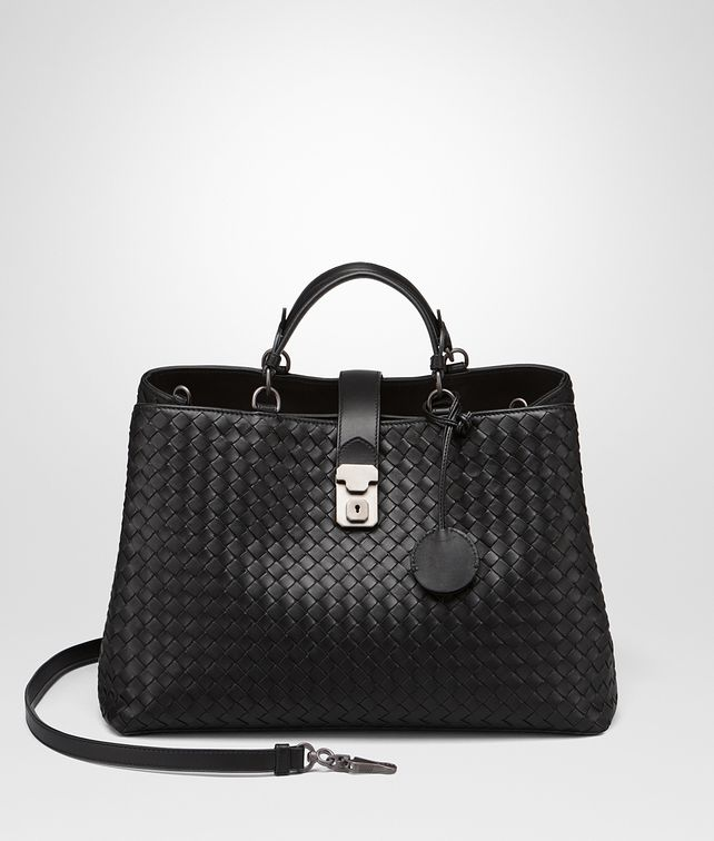 BOTTEGA VENETA MILANO '17 BAG IN NERO INTRECCIATO NAPPA Tote Bag Woman fp