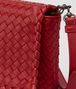 BOTTEGA VENETA CLUTCH BAG IN CHINA RED INTRECCIATO NAPPA Clutch Woman ep