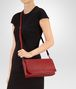 BOTTEGA VENETA CLUTCH BAG IN CHINA RED INTRECCIATO NAPPA Clutch Woman lp