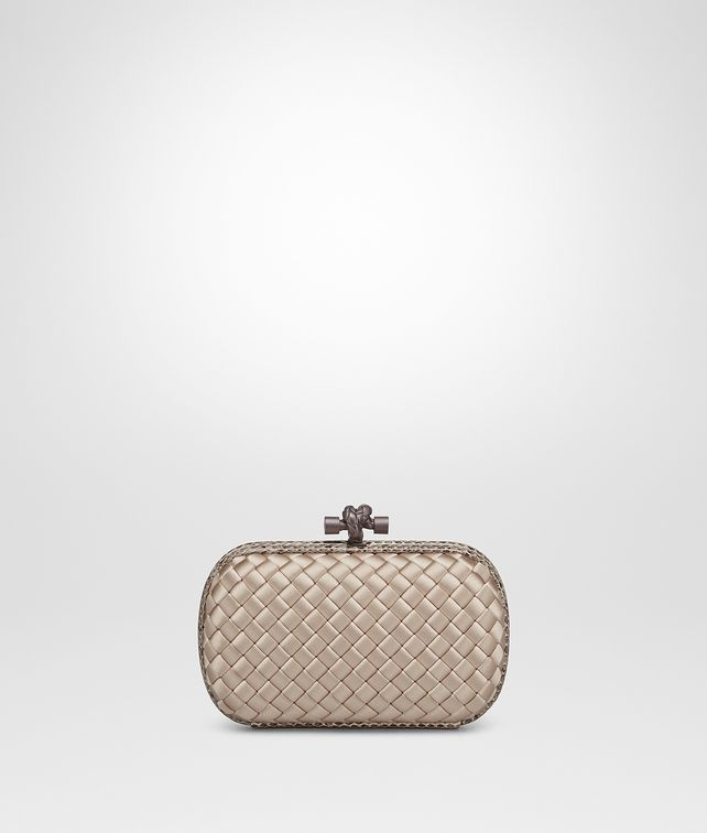 BOTTEGA VENETA MINK INTRECCIATO IMPERO KNOT Clutch [*** pickupInStoreShipping_info ***] fp