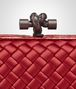 BOTTEGA VENETA KNOT IN CHINA RED INTRECCIO IMPERO, AYERS DETAILS Clutch D ep