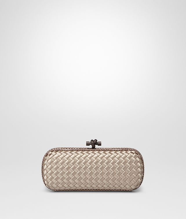 f341da088db BOTTEGA VENETA MINK INTRECCIATO IMPERO STRETCH KNOT Clutch       pickupInStoreShipping info